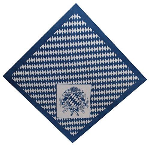 Tobeni 548 Bandana Kopftuch Halstuch Nickituch in 100 Baumwolle für Damen und Herren, Farbe:Bayern Wappen klein;Größe:54 cm x 54 ()