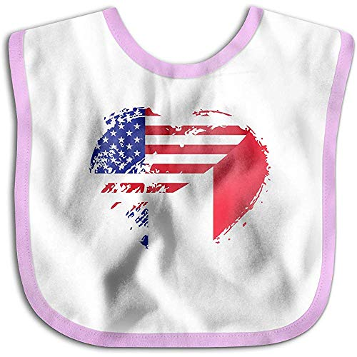 Bandera americana corazón Francia Bebé infantil