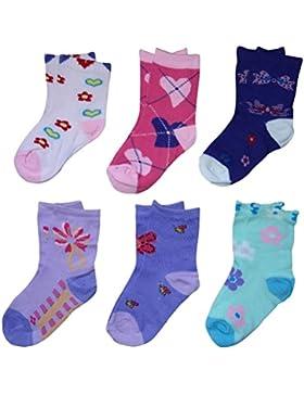 12 Paar Socken Mädchen Strümpfe Kids Mix Gr. 24 - 39