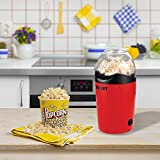 #2: Texet Plastic 1200 Watt Oil Free 2 minute Popcorn Maker with serving bowl, Red