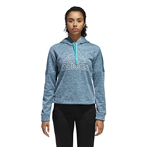 adidas Athletics Team Issue Badge of Sport Pullover, Damen, Athletics Team Issue Badge of Sport Pullover, Hi-Res Aqua Melange, Small - Athletic Pullover Golf