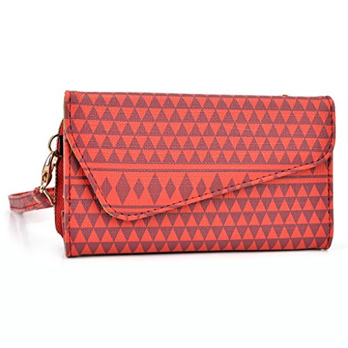 Kroo Pochette/étui pour téléphone Urban Style Tribal pour Blackberry Passport White and Orange rouge