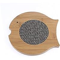 Design con pesci in legno, resistente al calore, per uso domestico, Pad Mat Coaster