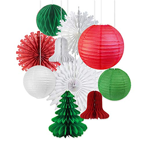 Retro Paper Christmas Decorations Set. Ditch the plastic and decorate your home retro style