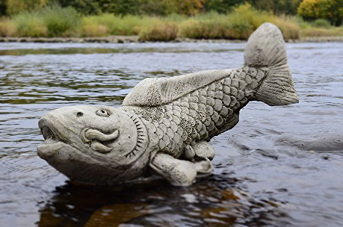 Koi Karpfen Fisch–Hand Kunststein Gartenornament/Statue/Skulptur/Feng - Feng-shui Koi Fisch