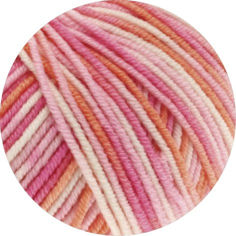 Lana Grossa Cool Wool 2000 Print 726 Rosa/Pink/Koralle/Natur