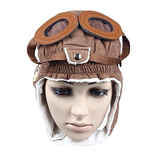 Philna12Warme Mütze mit Ohrenklappen für Kleinkind und Baby / Wintermütze im Fliegerhelm-Stil, 1 Stück