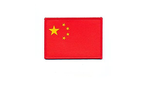 50 X 40mm Volksrepub Lik China Flagge Flag Peking Patch Aufbügler Aufnäher 0867 A Auto