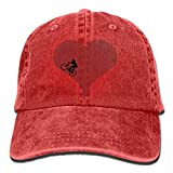 Aoliaoyudonggha Unisex Bicycle Love Denim Jeanet Baseball Cap Adjustable Hunting Cap for Men Or Women