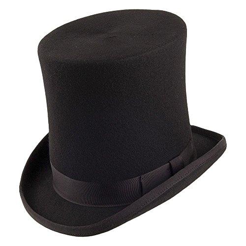 Village Hats Denton Stove Pipe Zylinder - Schwarz - L -