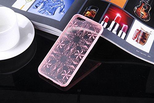 König-Shop Henna Cover Handy Hülle Case Schutzhülle Bumper Tasche Indische Sonne Mandala Rosa, Für Handy:Samsung Galaxy S7, Motiv auswählen:Indianische Spitze Pink