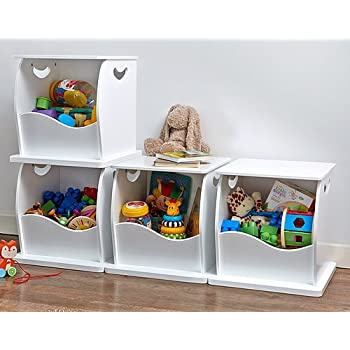 4 X Stacking Open Toy Storage Trunks Amazon Co Uk