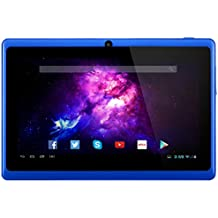 Alldaymall A88X Tablet de 7 Pulgadas - Android 4.4, Quad Core,8 GB ROM, HD 1024x600, Wi-Fi, Bluetooth, OTG,Soporte para juegos 3D - Azul