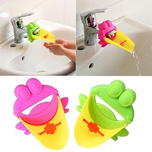 Musuntas 2pcs Wasserhahn Verlängerung Hahn Extender für Kinder Baby Hände waschen Badezimmer-Cartoon Tier Design Hand waschen Waschbecken (Klappe Waschen)