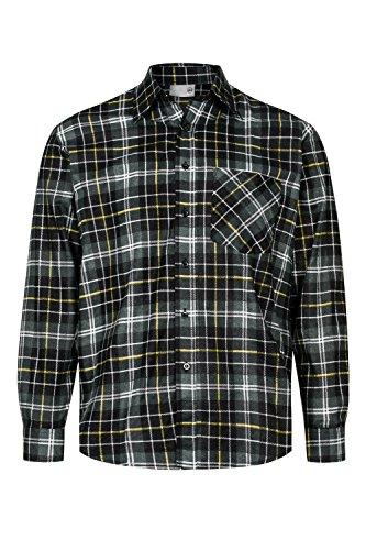 flanellhemd arbeitshemd MAX PRO Herren Flanell-Hemd Arbeitshemd 100% Baumwolle Grau-Orange Gr. S/40 MP1012_S