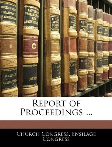 Report of Proceedings ...