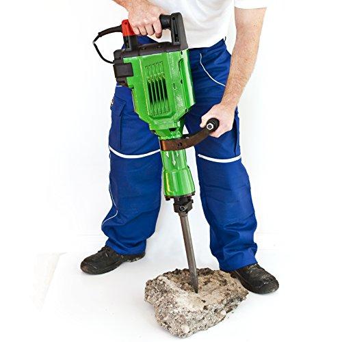 Abbruchhammer sehr starke 3.500 Watt / Schlagkraft 55 Joule / Stemmhammer Meißelhammer Schlaghammer Meißel (Wechseln Ölstand)