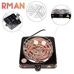 RMAN Elektrischer Kohleanzünder Shisha Kohle Grill 1000 W Heizplatte Brenner E-Heater Kohlebrenner Schwarz (Kohleanzünder)
