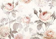 Die zarten botanischen Aquarelle von Pierre-Joseph Redouté begeisterten schon Marie Antoinette und Kaiserin Josephine. Hier wetteifern seine Rosen gemeinsam mit naturechten Blüten wer die Schönste ist.