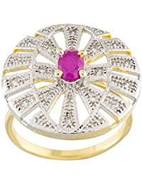 ARIHANT GEMS & Jewels White And Pink Copper Ring For Women - Size: Free Size (FLRA0073)