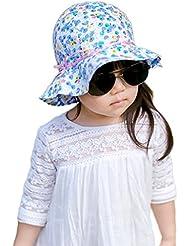 Smile YKK bebé niñas algodón impresión Floppy bucekt protección solar sombrero