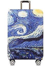 Kenebo Van Gogh Starry Sky Pintura Cubierta De Equipaje Protector De Equipaje Maleta Cubierta Media