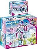 PLAYMOBIL® Magic 2er Set 9469 9474 Funkelnder Kristallpalast + Schlitten mit Königspaar