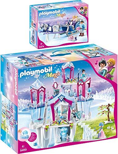 Preisvergleich Produktbild PLAYMOBIL® Magic 2er Set 9469 9474 Funkelnder Kristallpalast + Schlitten mit Königspaar