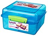 Sistema Lunch Cube Max Lunch Box with Yoghurt Pot, Blue by Sistema