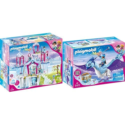 Crystal-kristall-palast (PLAYMOBIL 9469 Spielzeug-Funkelnder Kristall palast, Unisex-Kinder &  9472 Spielzeug - Prachtvoller Phönix Unisex-Kinder)