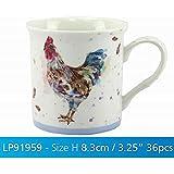 Lesser & Pavey 3.25-Inch  Fine China/Porcelain Country Cockerel Suffolk Mug, Multi-Colour