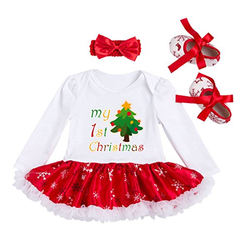 Deylaying Bambini Neonate Party Princess Prom Natale Abito da sera gonna Costume Outfit albero M (3-6month)