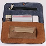 Pick Indiana Rolling Pouch Combo with 1 Suede Pouch Rolling Paper Dispenser, 2 Rolling Papers, 5 Fresh Seal Bags and 1 Filter Tip Roach Pad 50 leaves