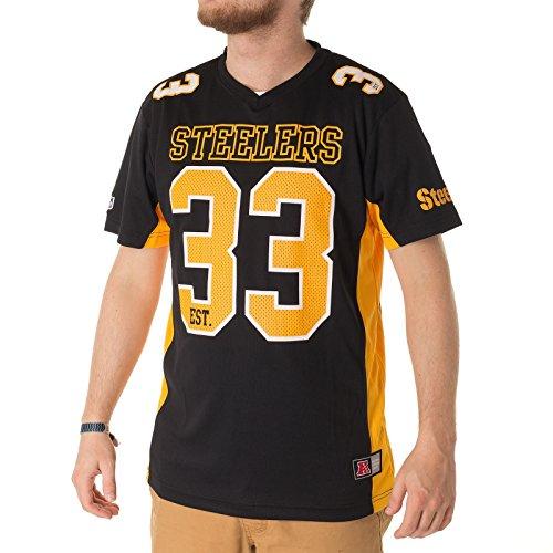 Majestic Pittsburgh Steelers Moro Est. 33 Mesh Jersey NFL T-Shirt M