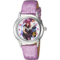 Disney - Reloj de cuarzo para chicas Los Descendientes 2, con diseño informal, de acero inoxidable, color morado (modelo: WDS000247)