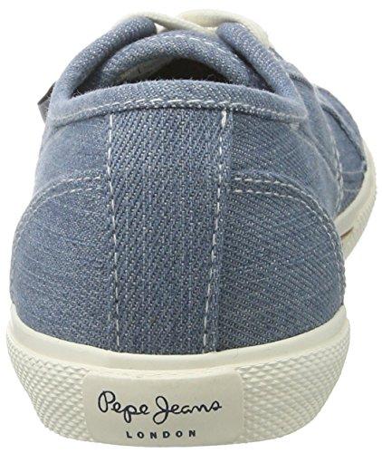 Pepe Jeans Abernew Denim S17, Scarpe da Ginnastica Basse Donna Blu (AZZURRO)