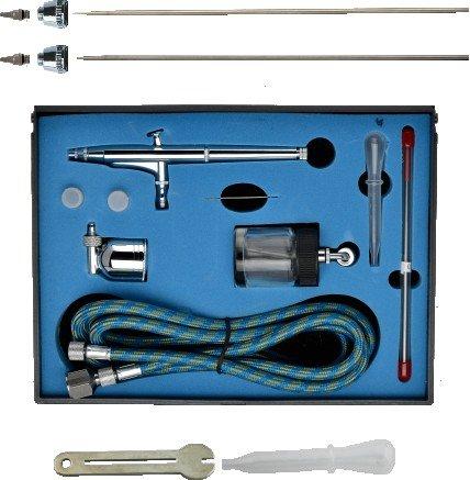 Kit Spray-Malerei Profi Double Action mit Nadeln 0,25mm/0,3mm/0,5mm (Kit Spray Malerei)