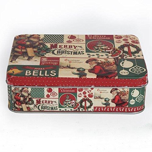 Fabulous Vintage Christmas Storage Tin Box Gift Xmas for sale  Delivered anywhere in UK