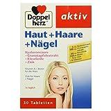 Doppelherz Haut + Haare + Nägel / Nahrungsergänzungsmittel mit Zink zum Erhalt normaler Haut / Plus Hyaluron & Kieselerde / 1 x 30 Tabletten