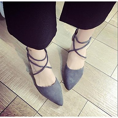 Sandales femmes Confort Printemps occasionnels de PU Gray