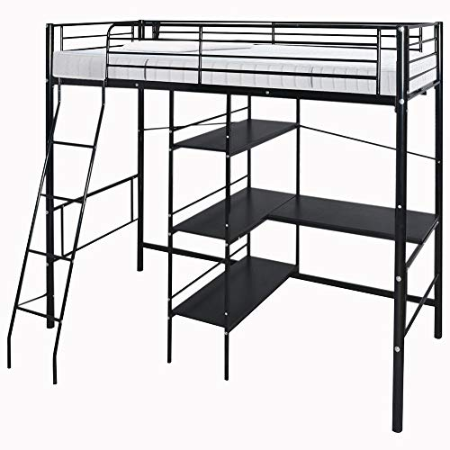 Strong Metal Cabin Bed Loft Bed Frame High Sleeper for sale  Delivered anywhere in UK
