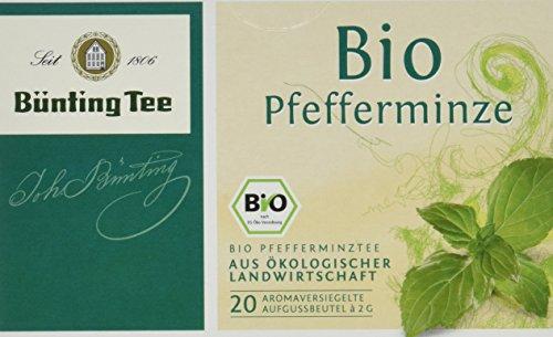 Fan Von Bunting (Bünting Tee Bio Pfefferminze 20 x 2 g Beutel, 3er Pack (3 x 40 g))