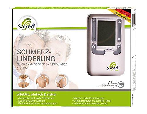 SaneoONE ti0068 Schmerzlinderung schnell und einfach, deutsche Markenqualität, Medizinprodukt, Tensgerät