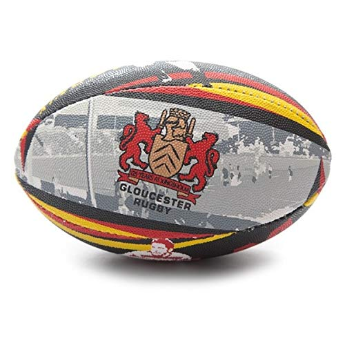 x-blades Gloucester Kingsholm 125anni supporter pallone da rugby, White