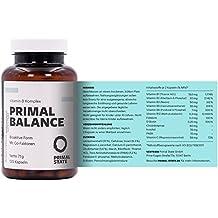 Vitamin B Komplex hochdosiert vegan | PRIMAL BALANCE | alle acht B-Vitamine | Bioaktiv & mit Co-Faktoren | B1, B2, B3, B5, B6, B12, D-Biotin & Folsäure | 120 Kapseln (2-Monatspackung)