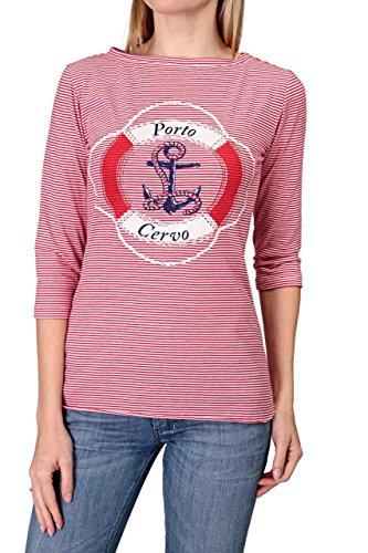 Hotspot Damen Shirt 3/4-Arm-Shirt PORTO CERVO, Farbe: Rot Rot