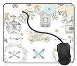 Juzijiang Tappetino Mouse da Gaming Corona Verde della Gabbia per Uccelli di Nozze, Gomma Antiscivolo per Computer Portatile Mouse Pad