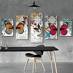 CAOQAO ® Adesivi Murali Adesivi Tridimensionali Decorativi / 5 Pezzi Pasta Di Diamanti Europei Ricamo Incrociato Pittura Di Animali/Strass + Tela/High-end Decorazione Domestica