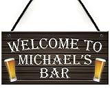 Rustikal Zitat Schild Zum Aufhängen Schilder für Home Decor Personalisierbar Willkommen Zuhause Bier Bar Man Cave Alkohol Pub Garage Landlord Holz Willkommen Schilder