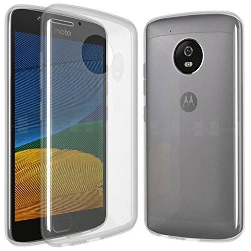 XEPTIO Lenovo Motorola Moto G5 5 Zoll 4G/LTE Dual SIM Protektor case TPU transparent Clear Tasche Hülle - Zubehör Etui Cover Lenovo Moto G5 5th Generation Accessoires